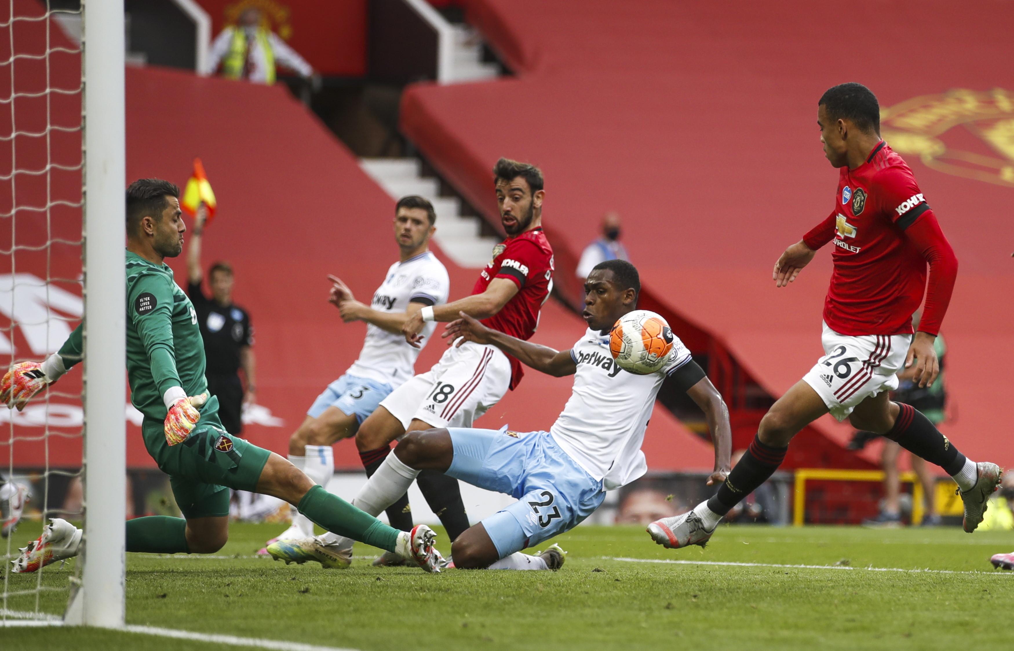 Premier League. Manchester United - West Ham United. Remis dał podium Czerwonym Diabłom i utrzymanie Młotom - Sport WP SportoweFakty